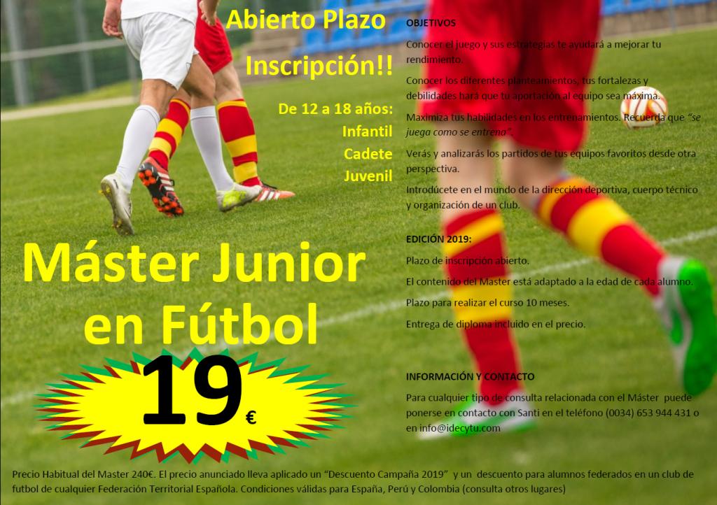 máster infantil futbol